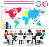 Global Business Graph Growth World Map Concept Stock Photography