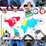 Global Business Graph Growth World Map Concept Royalty Free Stock Photos