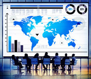 Global Business Graph Growth World Map Concept Royalty Free Stock Photo