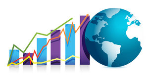 Global business graph illustration design Royalty Free Stock Photos