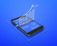 Global business graph Royalty Free Stock Photo