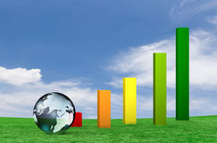 Global business. With growth chart Royalty Free Stock Photography