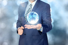 Global business in the hands. Royalty Free Stock Photo