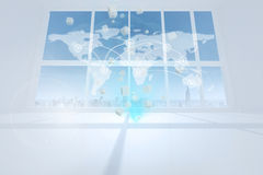 Global business hologram Stock Photo