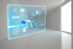 Global business hologram Stock Images