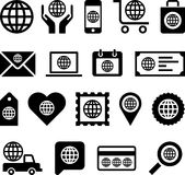 Global business icons. Set of different global business icons isolated on white background Royalty Free Stock Images