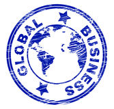 Global Business Indicates Commercial Corporate And Worldly. Global Business Showing Commercial Globalization And Worldly Royalty Free Stock Photo