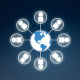 Global business connectivity concept royalty free stock image image