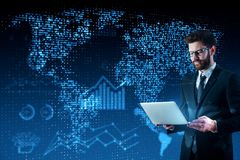 Global business and innovation concept stock photo