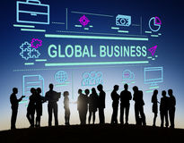 Global Business International Networking Trading Concept Royalty Free Stock Photography