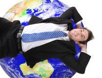 Global Business Man Royalty Free Stock Photography