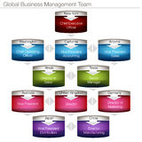 Global Business Management Chart. An image of a 3d global business management chart Stock Images
