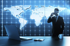 Global business map Royalty Free Stock Photography