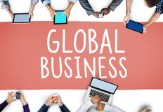 Global Business Marketing Globalization Commerce Concept.  Royalty Free Stock Photo