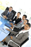 Global Business Meeting in board room Stock Image