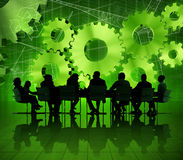 Global Business Meeting on Economic Recovery royalty free stock photo