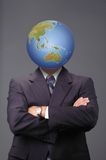 Global business metaphore. With neutral background Royalty Free Stock Photography