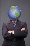 Global business metaphore. Global business methapore with neutral background Stock Photos