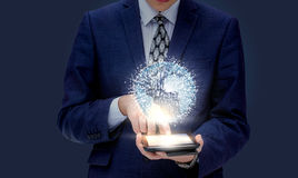 Global business in the mobile device . royalty free stock photos
