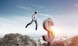 Global business and money concepts. Falling dollar currency. Stock Photography