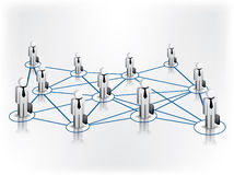 Global Business Network. And relationship between business people stock illustration