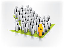 Global Business Network arrow. Global Business Network and relationship between business people Royalty Free Stock Photo