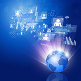 Global Business Network Background Royalty Free Stock Image