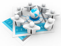 Global Business Network Stock Photography