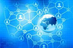 Global business network. Concept. Digital illustration Royalty Free Stock Image
