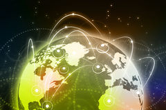 Global business network concept. Royalty Free Stock Photos