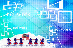 Global business network concept Illustration Stock Photography