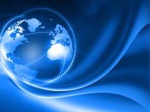 Global business network. 3d render of Global business network stock illustration