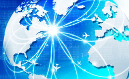 Global business network. Digital illustration Royalty Free Stock Image