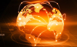 Global business network. Futuristic background of Global business network; internet; Globalization; concept Royalty Free Stock Image