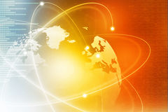 Global business network. Futuristic background of Global business network, internet, Globalization concept Stock Image