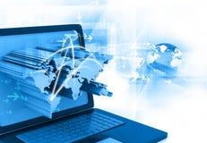 Global business network. Concept. 3d illustration Stock Image