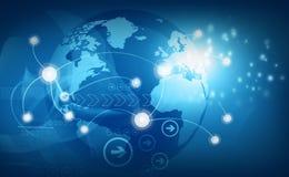 Global business network. 3d illustration royalty free illustration