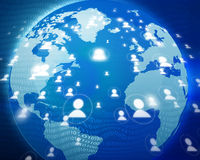 Global business network. People network royalty free illustration
