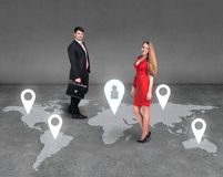 Global business network Stock Images