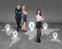 Global business network Stock Image