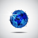 Global business network technology background, vector. Illustration Stock Photography