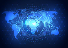 Global business network technology background, vector Stock Photography