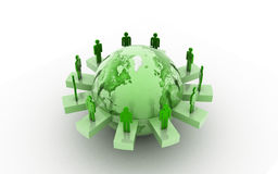 Global business networking concept Stock Images