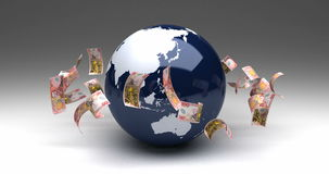 Global Business New Zealand Dollars stock video footage