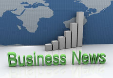 Global business news Royalty Free Stock Image