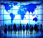 Global Business People Corporate World Map Connection Concept.  stock photography