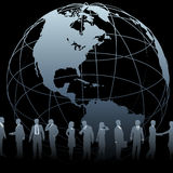 Global Business People Earth Globe Royalty Free Stock Image