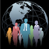 Global Business People Earth Globe on Black royalty free illustration
