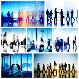 Global Business People Handshake Meeting Communication Concept Stock Image
