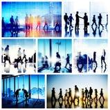 Global Business People Handshake Meeting Communication Concept Stock Image